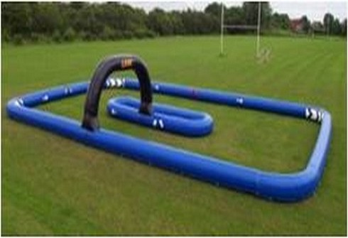 A vendre structure gonflable circuit avec chicane bleu - Structure gonflable a vendre ...
